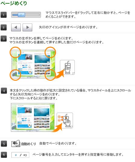 デジタルブックの使い方